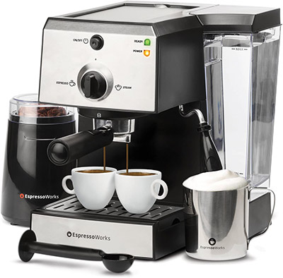 EspressoWorks Coffee Espresso Machine With Frother