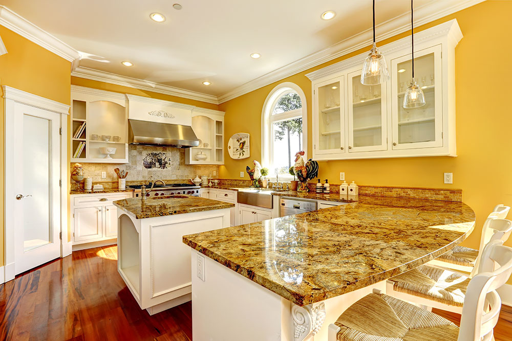 Bright yellow kitchen color