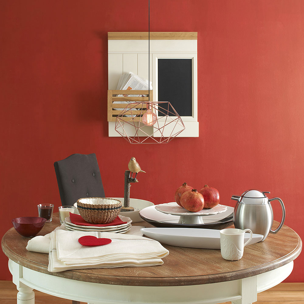Indian red kitchen wall color