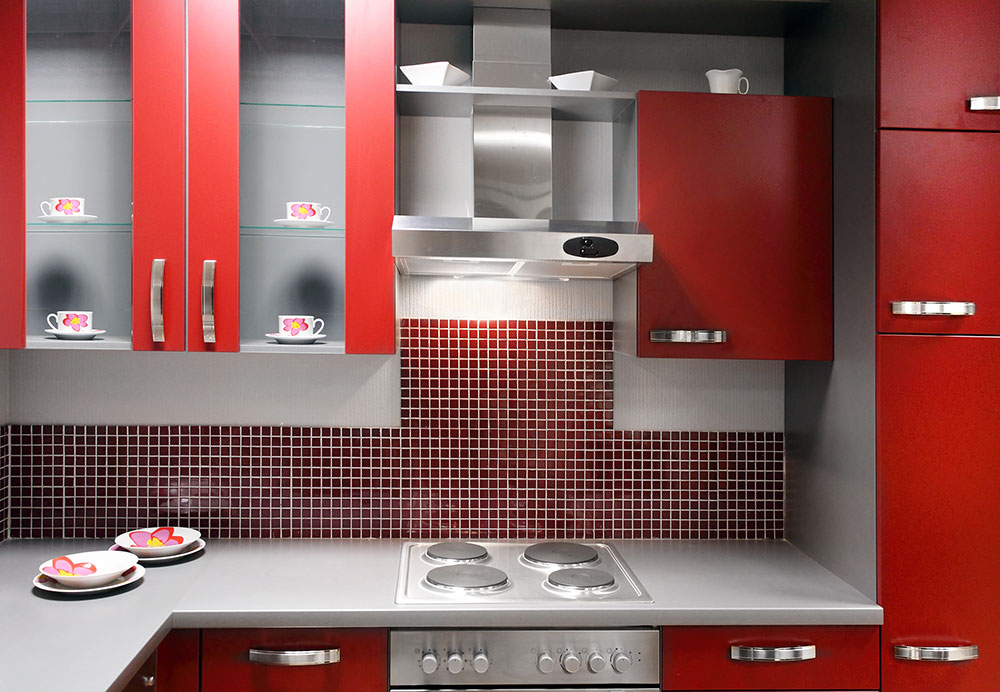 Rose red kitchen accent color
