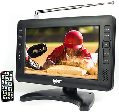Tyler TTV704-9 Portable Rechargeable Battery Powered LCD TV