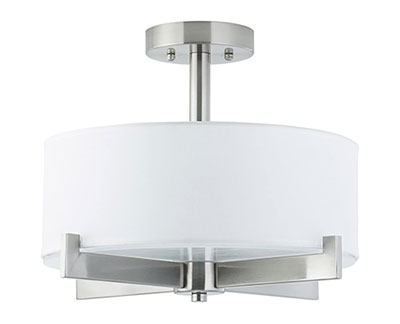 Allegro Semi Flush Mount Ceiling Light for kitchen