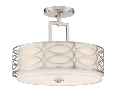 Kira Home Sienna Semi Flush Mount Ceiling Light