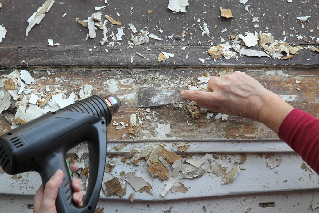 Removing Paint from Wood Using Heat Guns