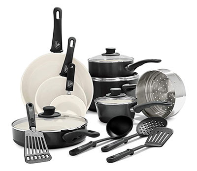 GreenLife Soft Grip Healthy Ceramic Nonstick Pots and Pans Set