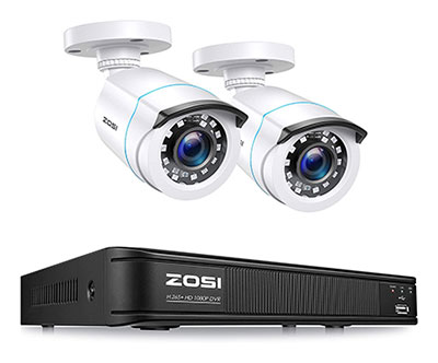 ZOSI H.265+ Full 1080p Weatherproof Home Security Camera System
